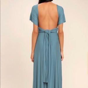 Lulu's Dresses - Blue maxi dress